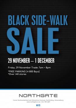 Black Side-Walk Sale