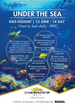 Under the Sea l Kids Holiday l 15 June - 14 July l FREE