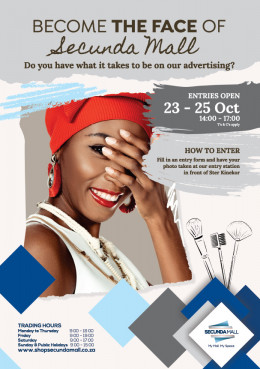 Become the face of Secunda Mall
