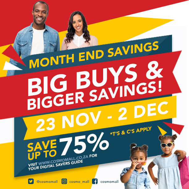 Big savings and big discounts at Cosmo Mall this November!