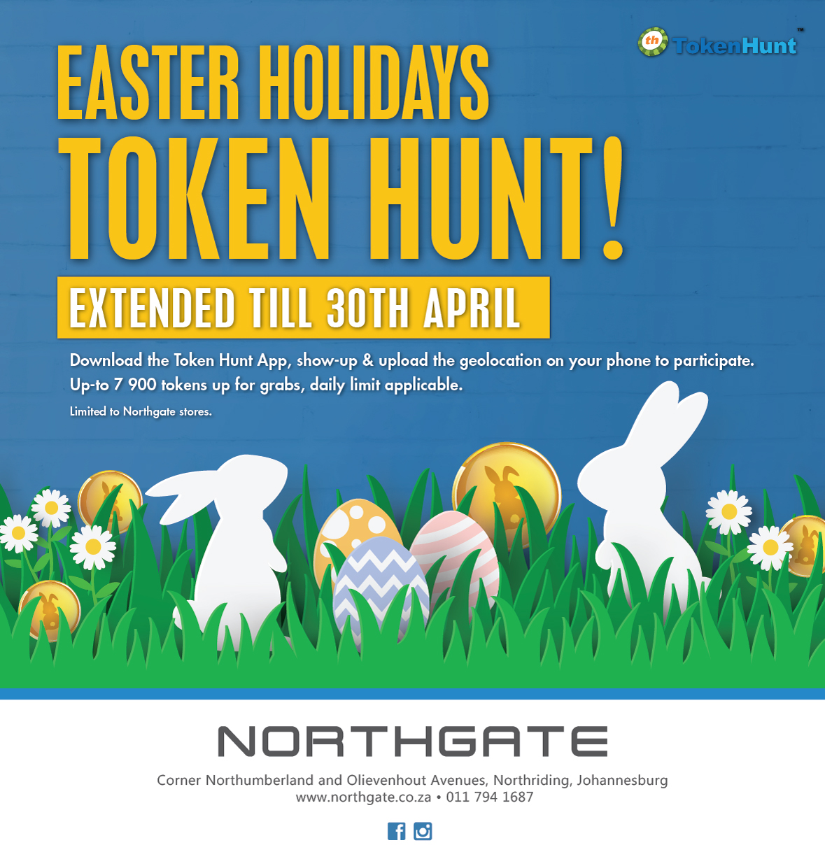 The #EasterHolidaysTokenHunt is extended until 30 April.