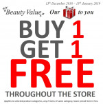 Beauty Value promotion