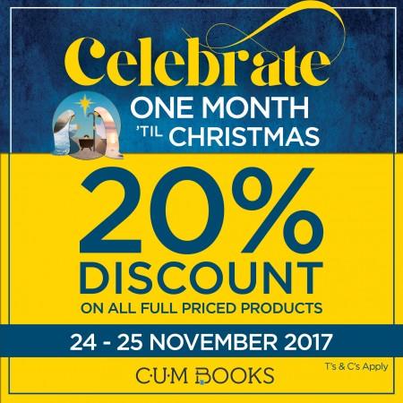 Celebrate one month 'til Christmas