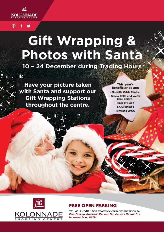 Gift wrapping & ohotos with Santa