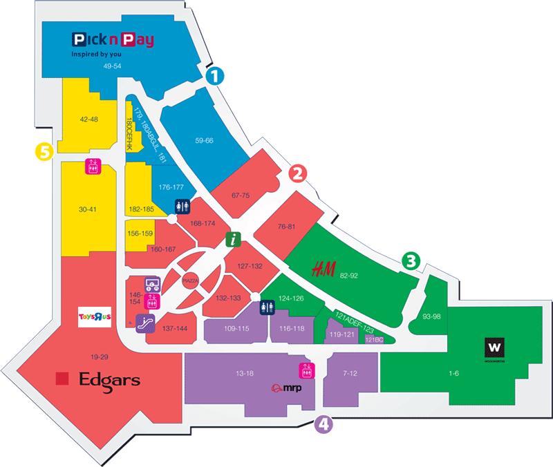 Secunda Mall Map