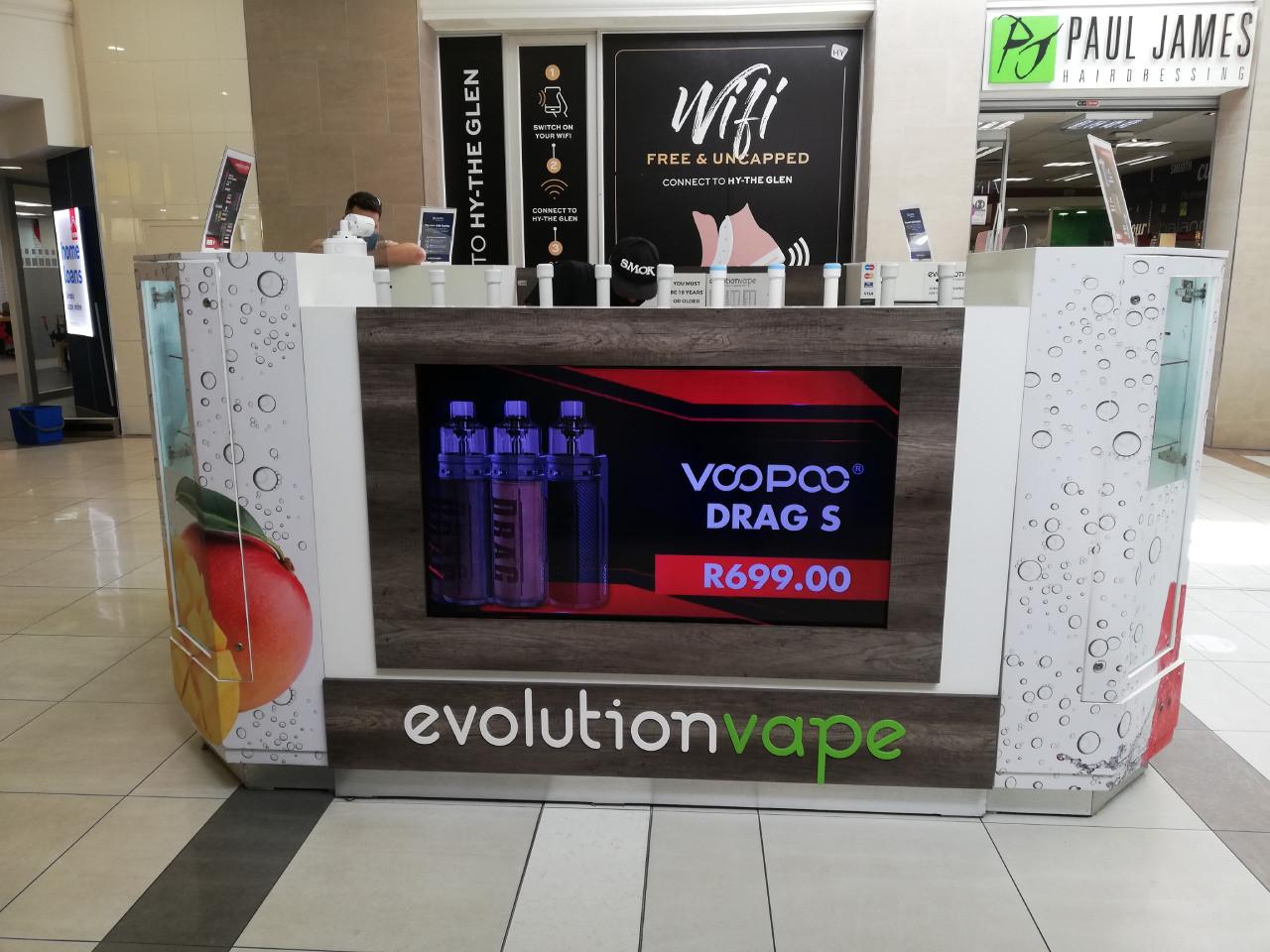 Evolution Vape - kiosk