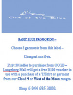 Out of the Blue promotion