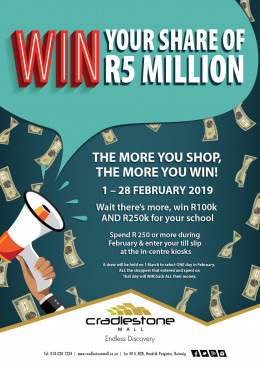 WIN your share of R 5 million