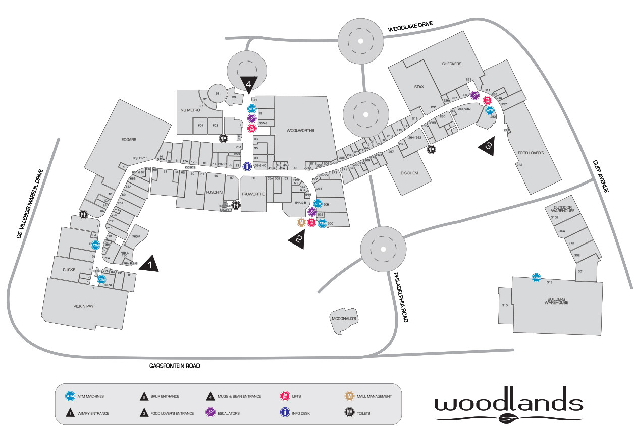 Woodlands Mall Map
