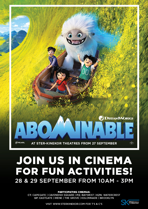 Join us in cinema for fun activities! 28 & 29 September 2019 from 10am - 3pm.