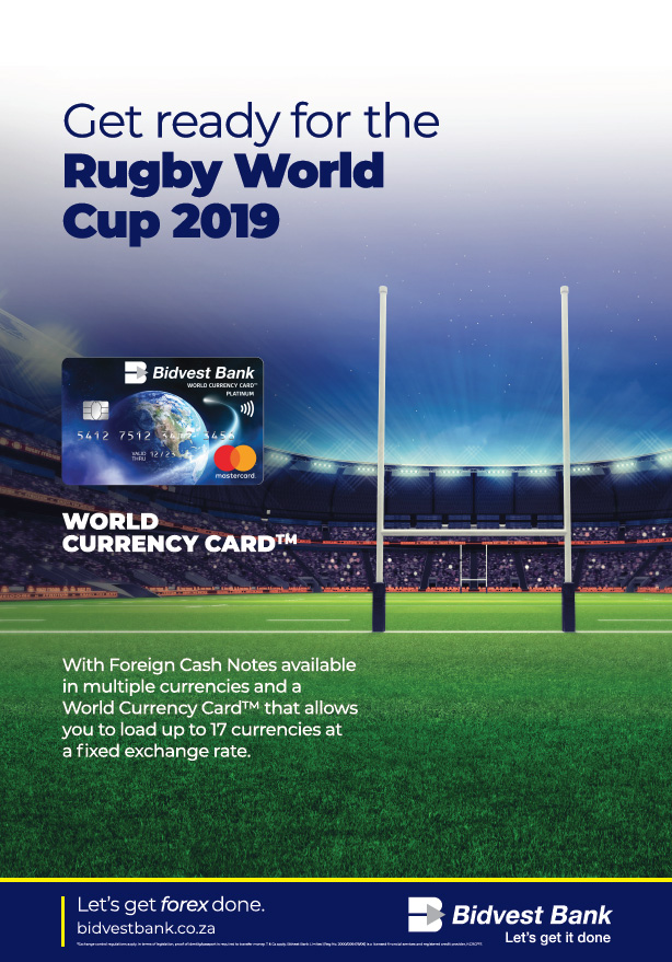 Get ready for the Rugby World Cup 2019.