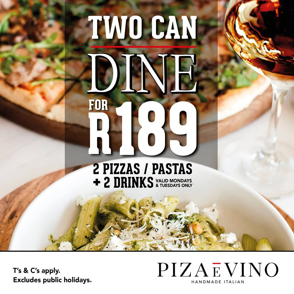 Two can dine for R189