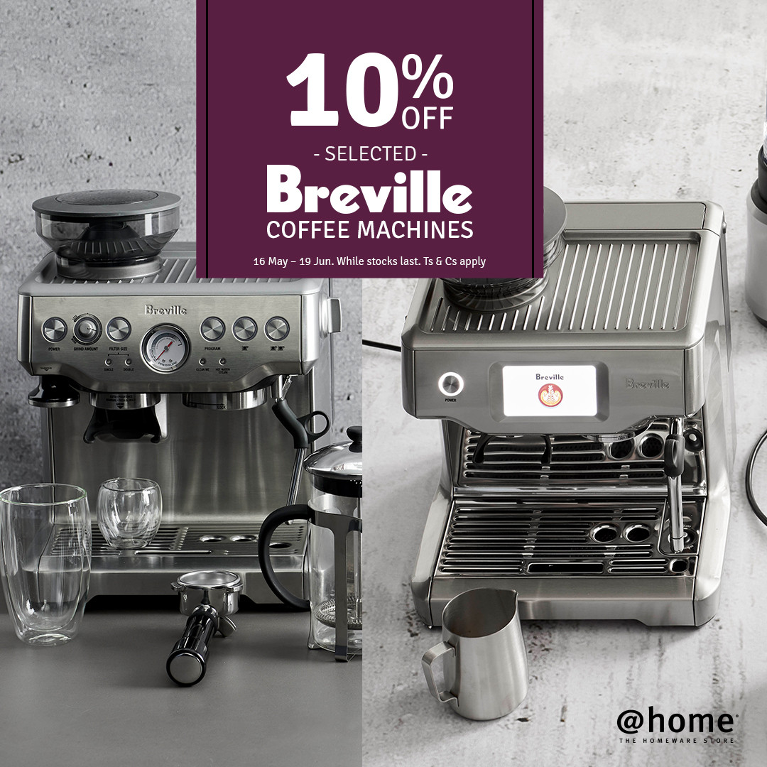 10% off Breville coffee machines at @home