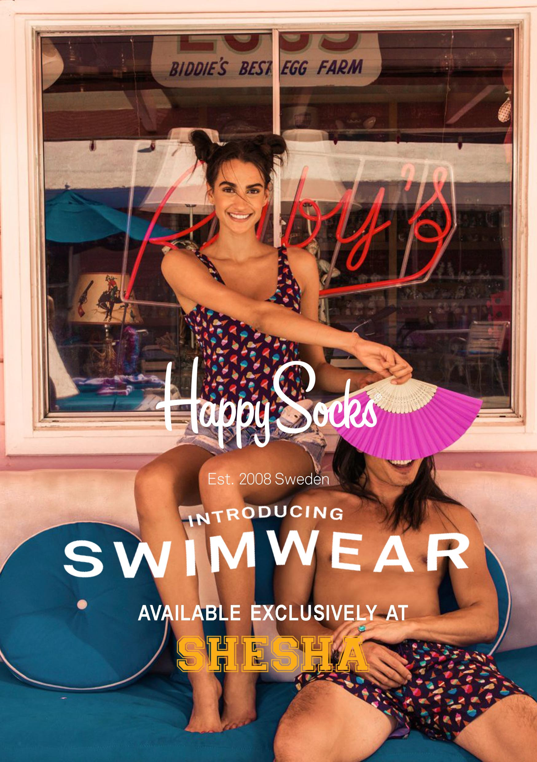 Happy Socks Swimwear now at Shesha