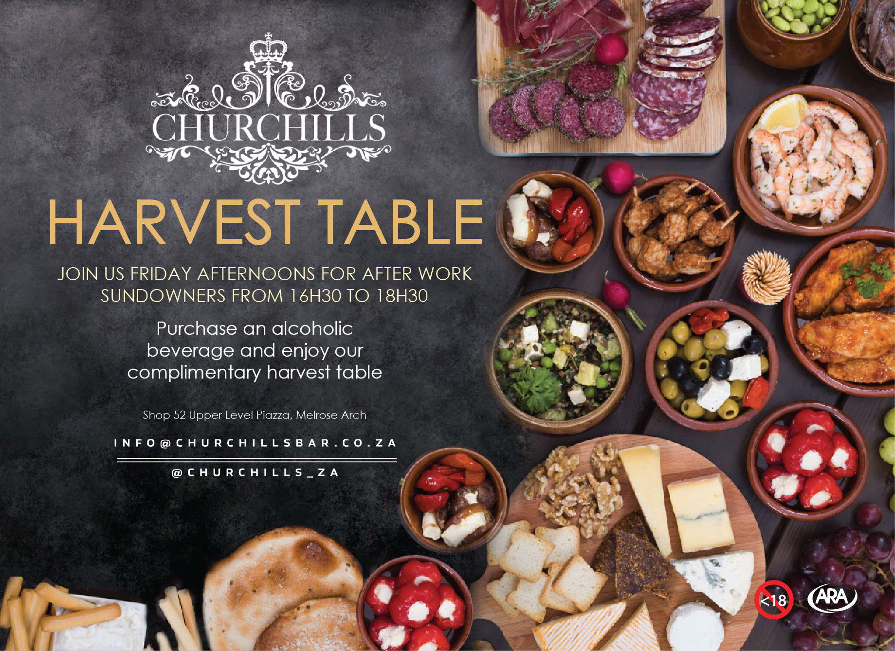 Friday is Harvest Table time at Churchills