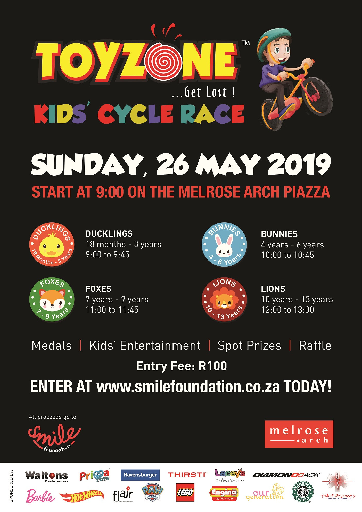 ToyZone Kids' Cycle Race