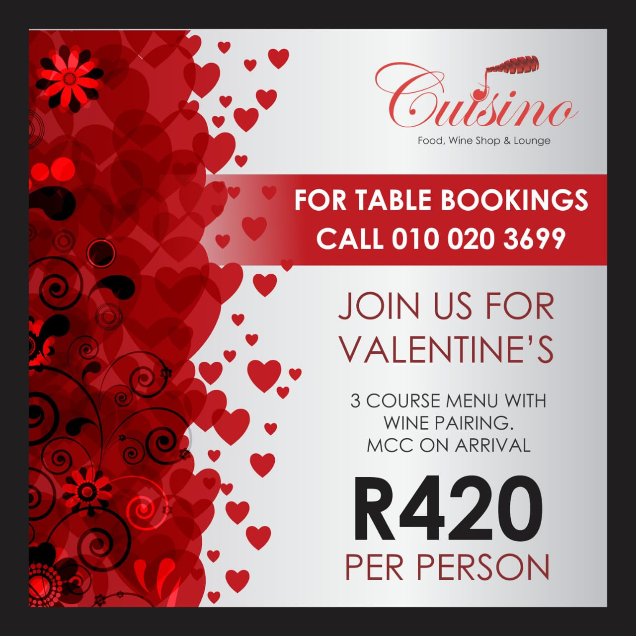 Cuisino Valentine's Day special