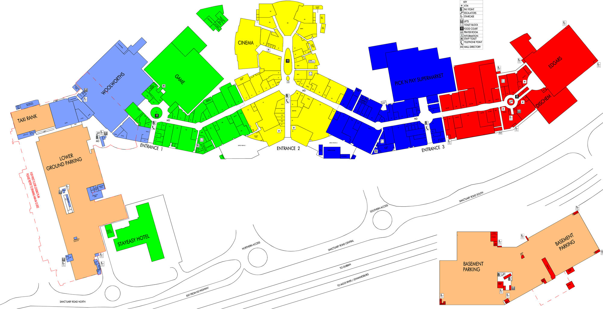 Mall Map | Midlands Mall Dunkin Donuts Store Map on