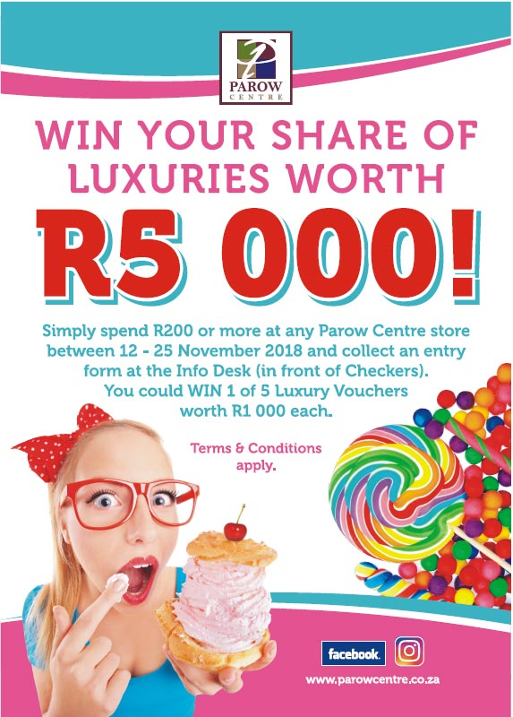 Win your share of luxuries worth R5 000!